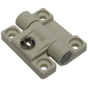 "White Plastic Adjustable Torque Hinge 1.69"" x 1.44"""