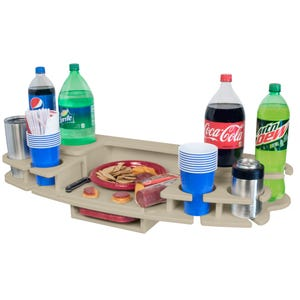 Drink Bar with Serving Tray Without Mounting Base - Buckskin