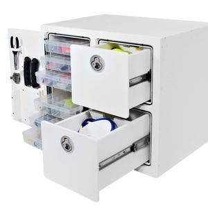 Free Standing 6 Tray, 2 Drawer Tackle Unit