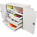 Free Standing Leaning Post Tackle Unit - 5 Tray, 6 Drawer