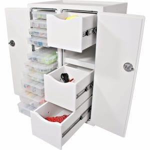 Free Standing Tackle Unit - 3 Drawer, 10 Tray