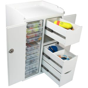 Free Standing Tackle Unit with Removable Fillet Table