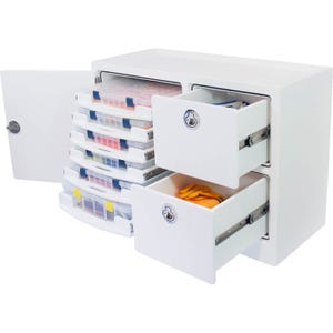 Free Standing Tackle Unit with Pull-Out Trays