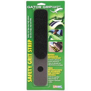 "Gator Grip Anti-Slip Safety Grit Strip 2"" x 12"" - Black 4 pack"