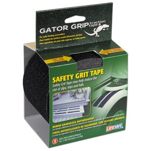 "Gator Grip Anti-Slip Safety Grit Tape 4"" x 15ft - Black"