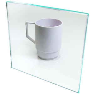 Green Edge Clear Plexiglas Acrylic Plastic Sheet