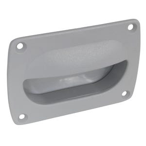 "Grey Flush Pull Handle 3.625"" x 2.375"""