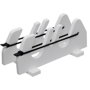 2 Gun Gunwale Mount Speargun Holder With Bungee