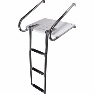 Inboard Outboard Swim Platform with 3 Step Ladder