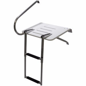 Outboard Swim Platform with 2 Step Ladder