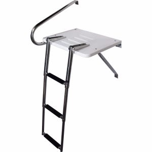 Outboard Swim Platform with 3 Step Ladder