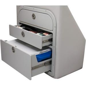 Crest Pontoon Lounge Backrest Storage Drawer