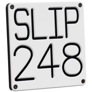 Custom Slip Number Sign