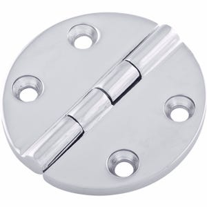 "Stainless Steel Cast Oval Butt Hinge 2.5"" x 2.5"""