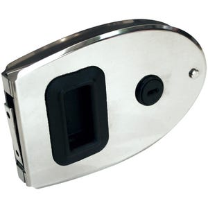 "Stainless Steel Oval Cabin Door Latch 5.82"" x 3.85"""
