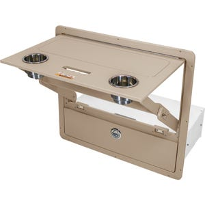 Vanderbilt Pontoon Folding Table Drawer Combo