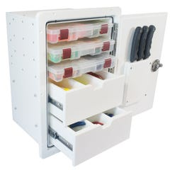 Tackle Drawer Unit with Plano Trays and Knife Holders