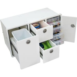 Tackle Storage Unit 2 Drawer, 5 Tray with Trash Can