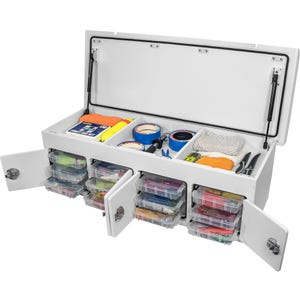 Tackle Unit With Lift Up Fillet Table and Open Storage