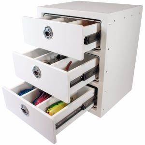 Three Drawer Free Standing Storage Unit