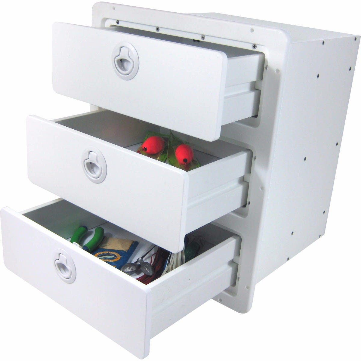 Three Drawer Storage Unit | Boat Outfitters Marine Hardware, Boating  Accessories, Tackle Centers