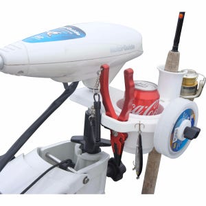 Trolling Motor Drink and Gear Holder - White