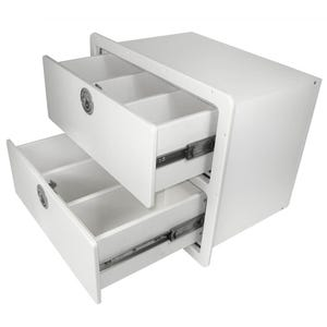 Two Drawer Unit with Removable Dividers