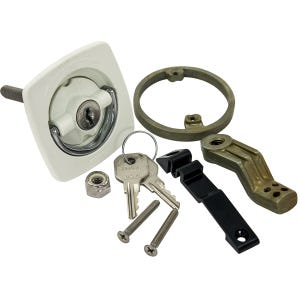 White Cam Latch - Locking