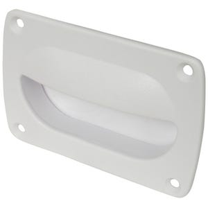 "White Flush Pull Handle 3.625"" x 2.375"""