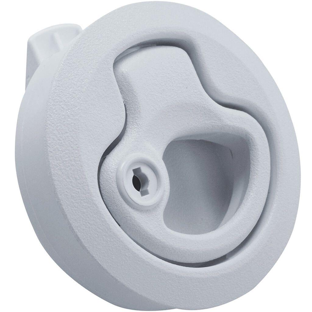 White Flush Slam Latch