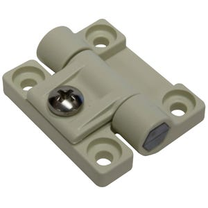 "White Plastic Adjustable Torque Hinge 1.69"" x 1.44"""