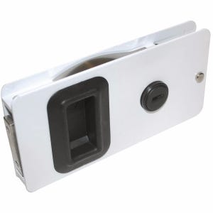 "White Sliding Cabin Door Latch 5.625"" x 2.875"""