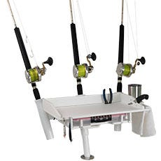 3 Rod Kite Fishing Rod Holder with Rigging Tray