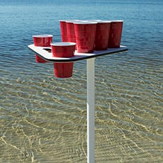 Sand Spike Beer Pong Table Set