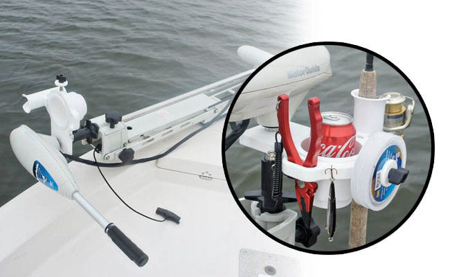 Trolling Motor Drink and Gear Holder