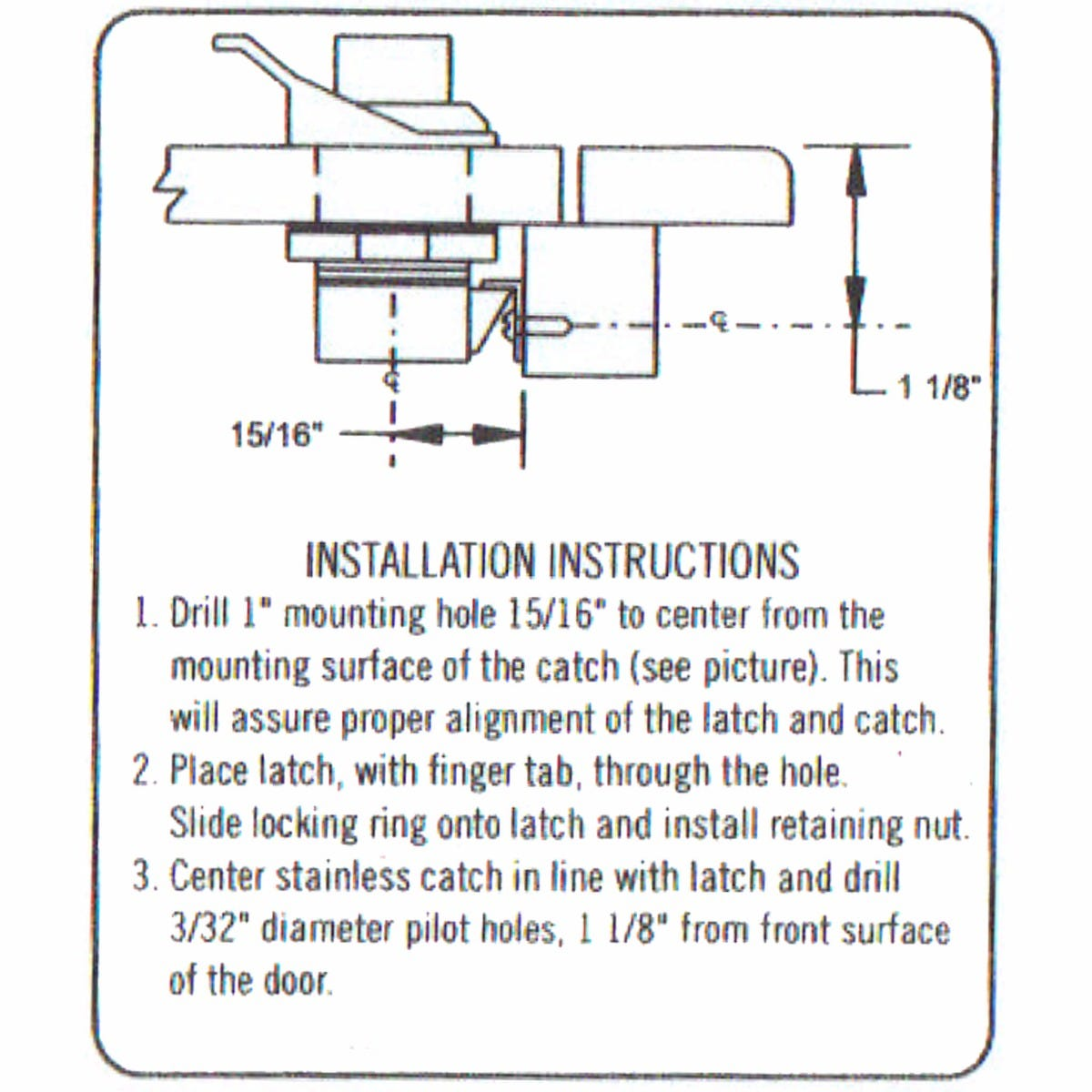 Southco Push Button Glove Box Latchhtml Diagram How To Replace A Defective Sliding Door Latch Ford Drawing